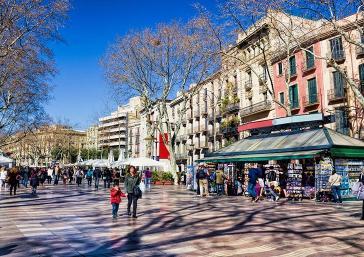 A Rambla de Barcelona