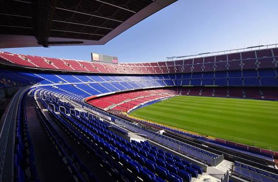 Camp nou: Football field Barcelona FC