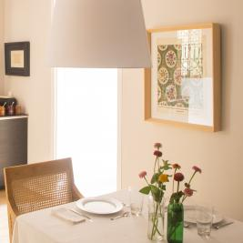 Decoration of the breakfast area at The Conica Deluxe B&B